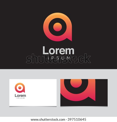 Logo design elements business card template stock vector 397510645 logo design elements with business card template vector graphic design elements for company logo reheart Choice Image