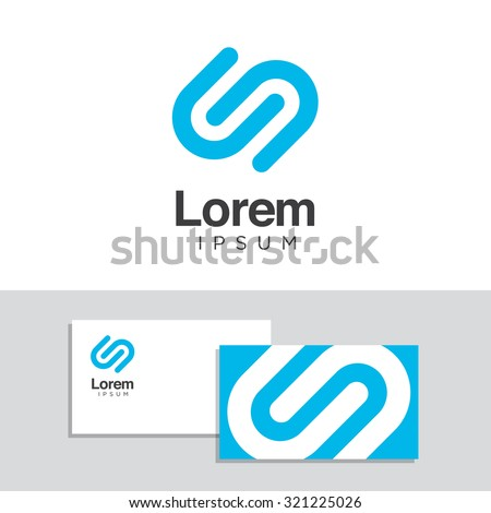 Logo design elements with business card template. Vector graphic design elements for your company logo. - stock vector