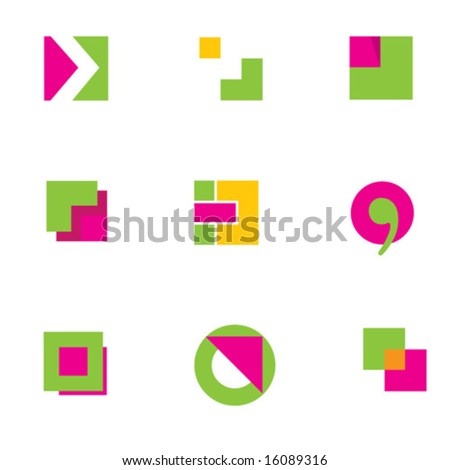 logo design geometric constructions 1 - stock vector