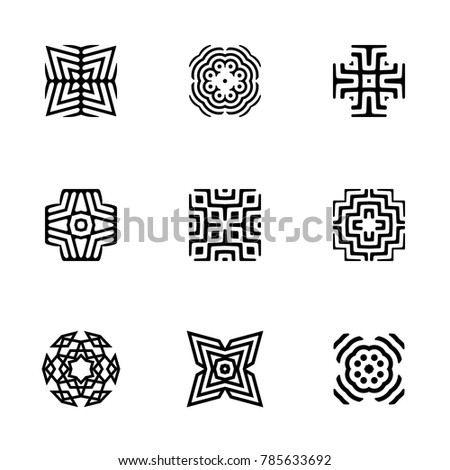 Logo Design Templates Vector Abstract Geometric Stock Vector HD ...