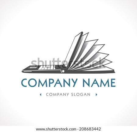 Logo - e-learning - company name - stock vector