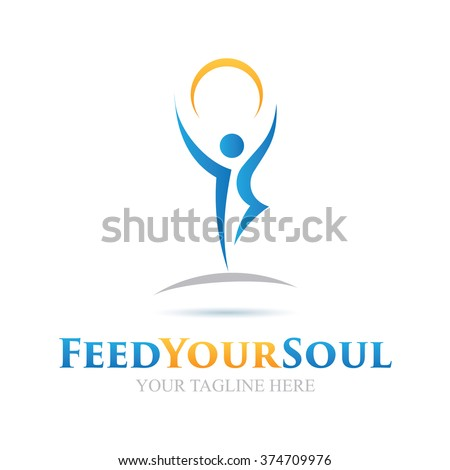 Logo Feed Your Soul Icon Element Template Design Logos - stock vector