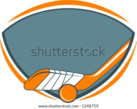 logo for ball or field hockey - stock vector