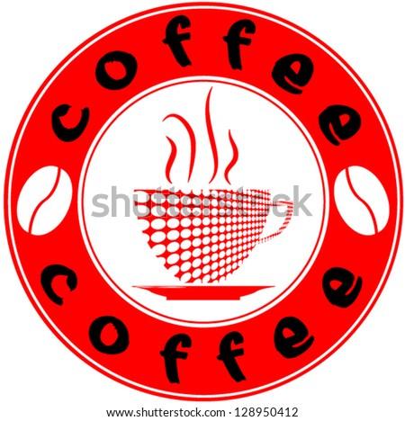 Logo for coffee shop. - stock vector