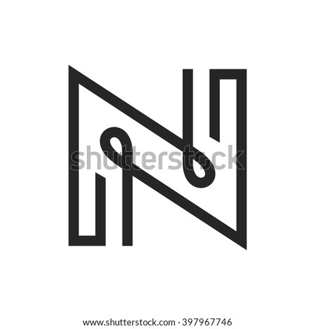Logo for letter N. Design concept