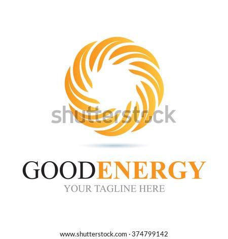 Logo Good Energy Icon Element Template Design Logos - stock vector