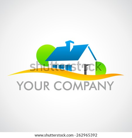 Logo House for company . House for sale, logo for firm, company trademark.