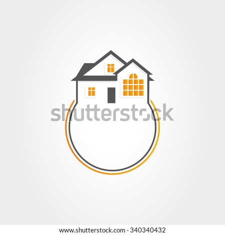 Logo. House. Vector. Real Estate. House logo. House icon. House symbol. House sign. House picture. House vector illustration. House unusual logo. House isolated logo. House vector logo. House sign. - stock vector