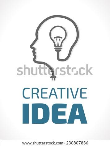 Logo - Idea concept - stock vector