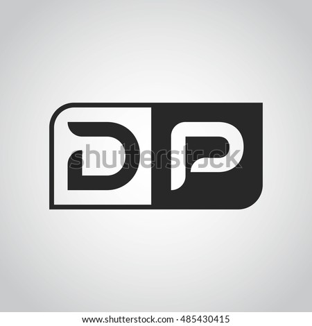 logo letter dp two different sides stock vector 485430415
