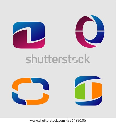 Logo Letter O Element Abstract Web Stock Vector 586496105 Shutterstock