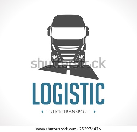 Logo - Logistic truck - stock vector