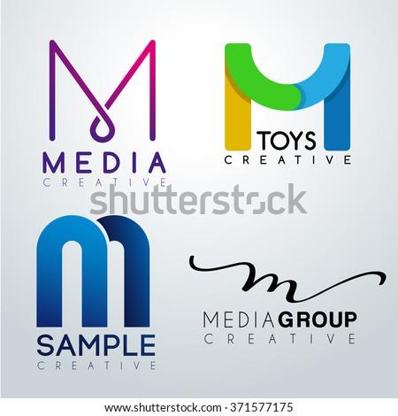 logo m design corporate identity logo stock vector royalty free 371577175 shutterstock. Black Bedroom Furniture Sets. Home Design Ideas