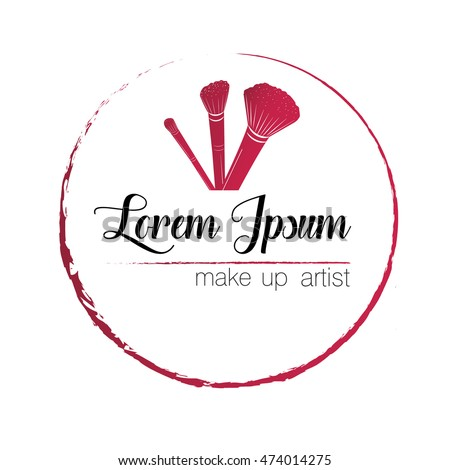 Logo Make Up Artist Illustration Vector