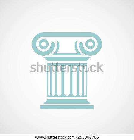 Logo marble columns. Vector image. - stock vector