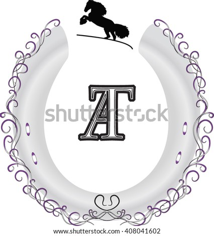 logo, monogram, vintage - stock vector