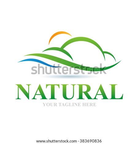 Logo Natural Icon Element Template Design Logos - stock vector