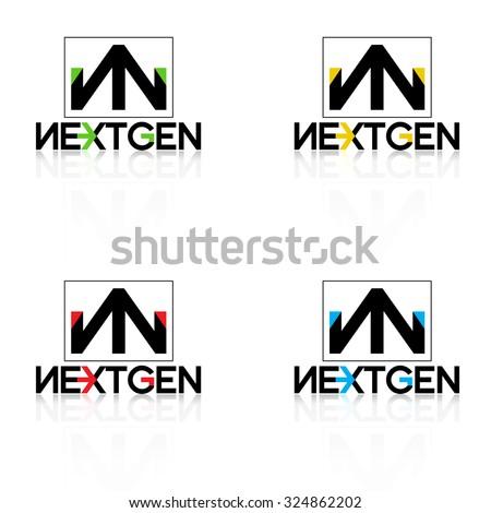 logo nextgen black - stock vector