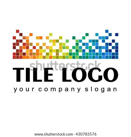 Logo of ceramic tiles - stock vector