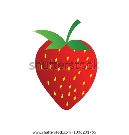 Logo Icon Strawberry Template Stock Vector (2018) 1036231765 ...