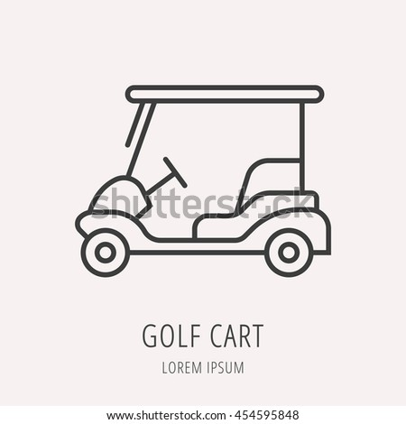 logo label golf line style logotype stock vector royalty free
