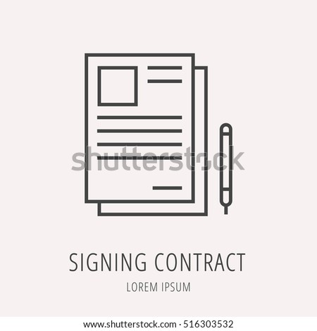 Signing contract stock images royalty free images for Logo use agreement template
