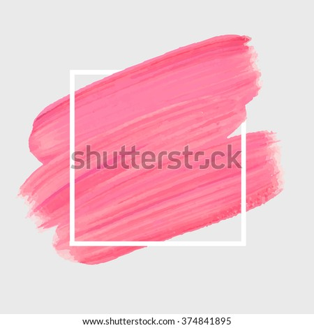 logo paint template original grunge brush stock vector 374841895