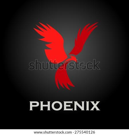 Logo phoenix - stock vector