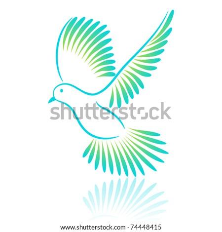 Logo Pigeon. Vector illustration. - stock vector