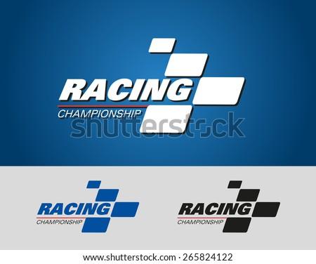 Logo Racing Championship - stock vector