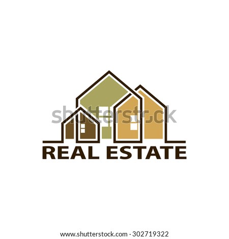 Logo real estate. Isolated on white background. Stock Vector. - stock vector