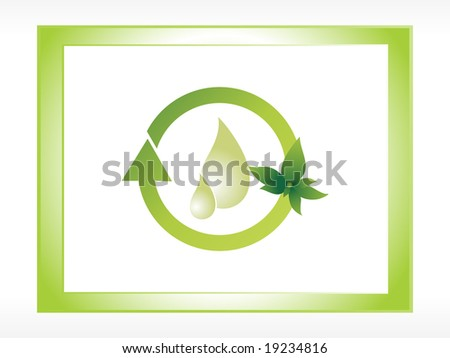 logo save water - stock vector