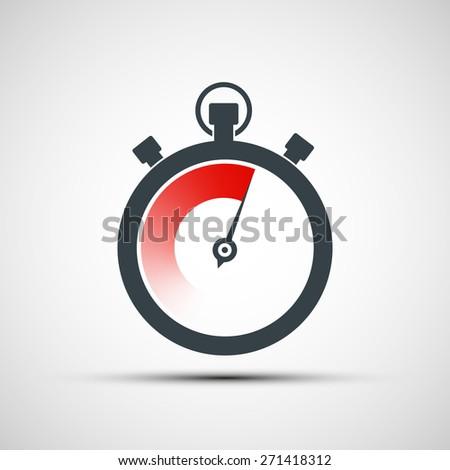 Logo sports stopwatch. Vector image. - stock vector