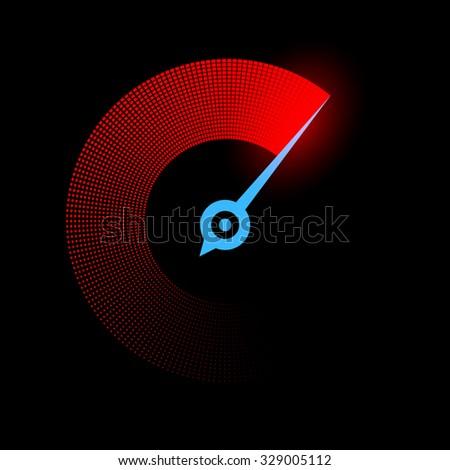 Logo stopwatch. Sport background. Stock vector illustration. - stock vector