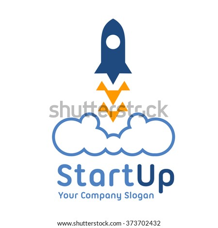 Logo template. Abstract business corporate identity symbol. Startup graphic concept - stock vector