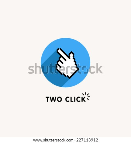 Logo template. Corporate icon for logotype. Vector. Computer help. - stock vector