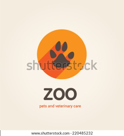 Logo template. Corporate icon for logotype. Vector. Zoo. - stock vector