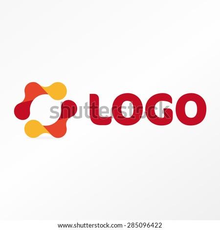 Logo. Vector. Abstract shape.  - stock vector