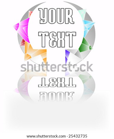 logo with crystals - stock vector
