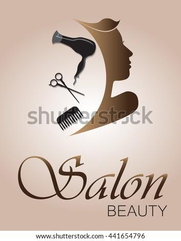 Logo woman silhouette, head, face logo isolated. Use for beauty salon, spa, cosmetics design, etc - stock vector