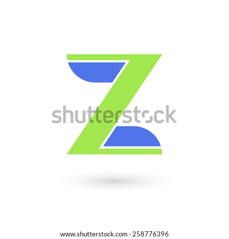 Logo Z letter. Isolated on white background. Vector illustration, eps 10. - stock vector