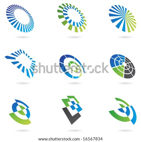logos and graphic design elements - stock vector