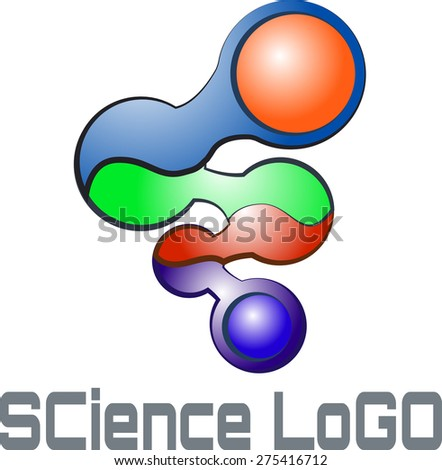Logos, symbols, icons and relics related to molecular biology - stock vector