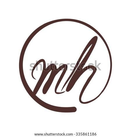 Stock Vector Logotype For Letter And Logo Monogram Mh