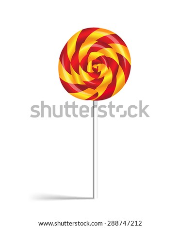 Lollipop candy isolated on white background.Vector illustration - stock vector