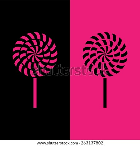 lollipop icon great for any use. Vector EPS10. - stock vector