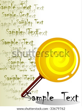 Lollipop isolated with Background - stock vector
