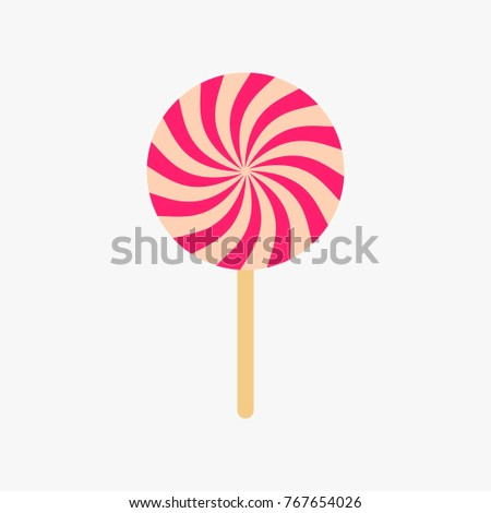 lollipop pink vector