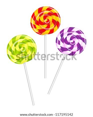 Lollipops - stock vector