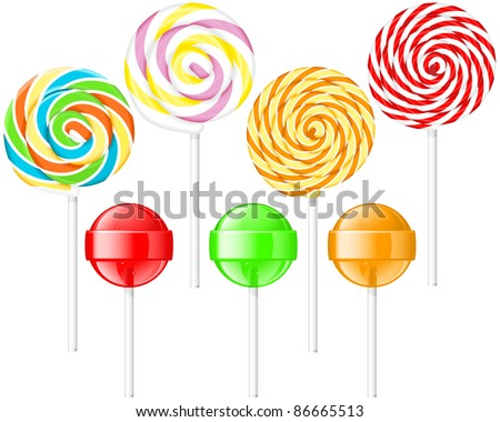 Lollipops - stock vector